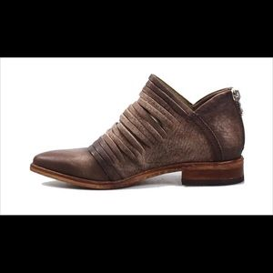 Free People Lost Valley Sliced Leather Ankle Boots